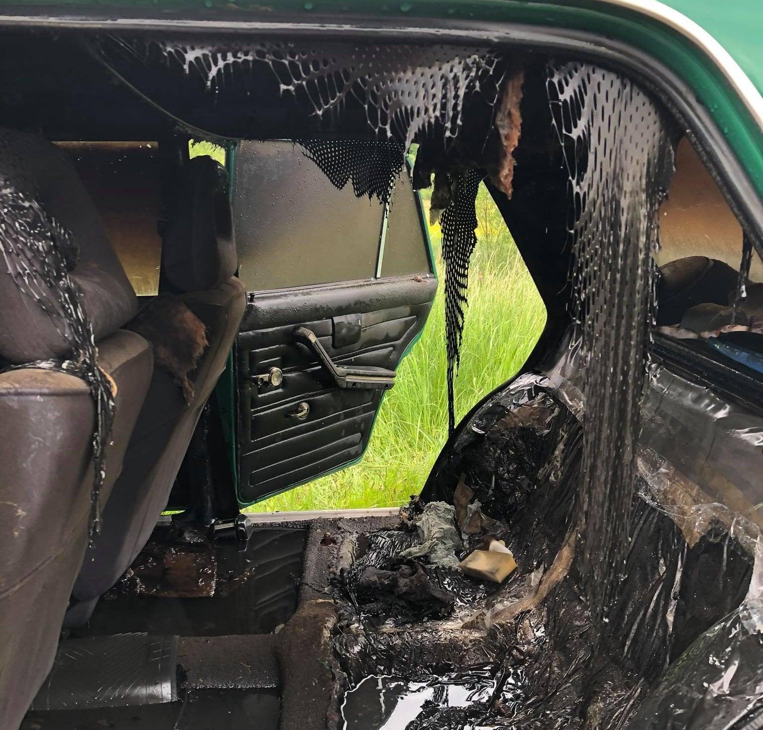 На Стрийщині під час руху загорівся автомобіль з людьми (ФОТО), фото-1